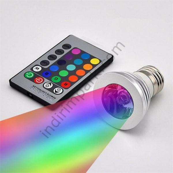 Kumandalı Led Ampül RGB