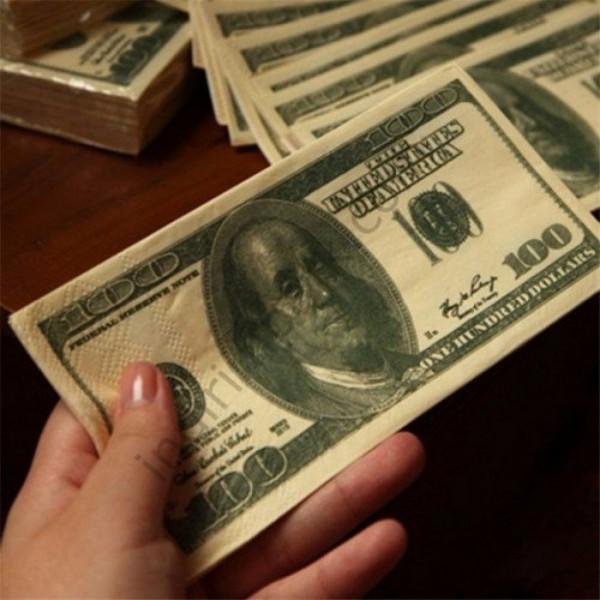 Dolar Şeklinde Peçete