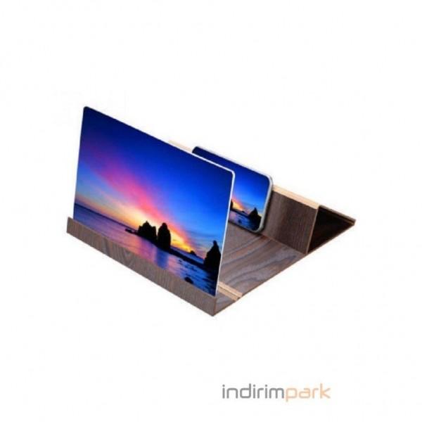 Büyük Boy 12' Cep Telefon Ekran Büyüteci HD Video Amplifikatör Smart Phone Stand